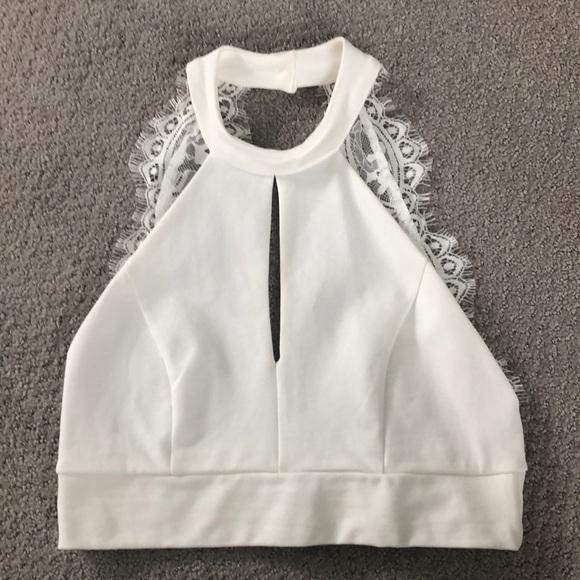 8d8044cee4 Lulu's Dresses & Skirts - Lulu's 2 Piece White Set